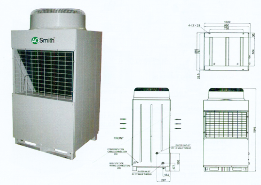 Air to Heat Water Heater CAHP - MC38 Series