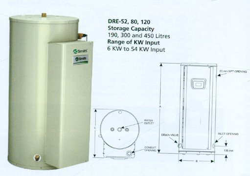 Electric Water Heater - DRE Series