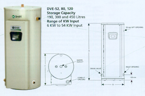 Electric Water Heater ( Gold Xi Series ) - DVE Series